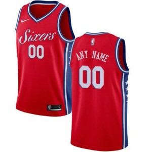Maillot Personnalise De Basket 76ers Homme Rouge Statement Edition Nike