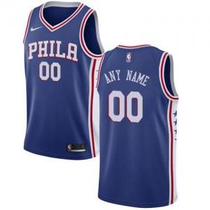 Nike Personnalisé Maillot Philadelphia 76ers Enfant Icon Edition Bleu