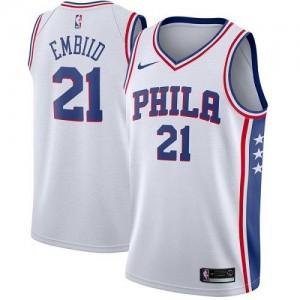 Nike NBA Maillot Joel Embiid Philadelphia 76ers Homme Association Edition Blanc No.21