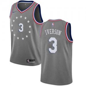 Maillot Iverson Philadelphia 76ers Homme City Edition Gris Nike #3