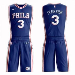 Nike NBA Maillot Allen Iverson Philadelphia 76ers Bleu #3 Suit Icon Edition Enfant