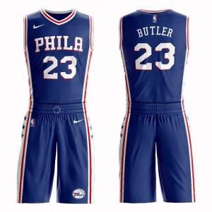 Nike NBA Maillots De Basket Butler Philadelphia 76ers Homme #23 Suit Icon Edition Bleu