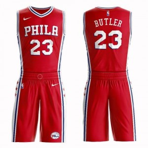 Nike NBA Maillots Basket Jimmy Butler 76ers Rouge No.23 Suit Statement Edition Enfant