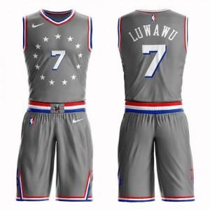Nike Maillots De Timothe Luwawu 76ers #7 Homme Suit City Edition Gris