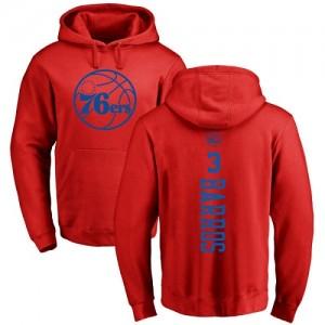 Sweat à capuche Dana Barros 76ers Nike Rouge One Color Backer Homme & Enfant No.3 Pullover