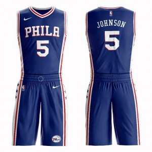 Nike NBA Maillot Basket Johnson 76ers Bleu Suit Icon Edition Homme No.5