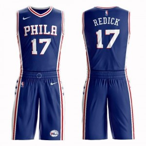 Nike NBA Maillot Basket JJ Redick Philadelphia 76ers Bleu Homme No.17 Suit Icon Edition