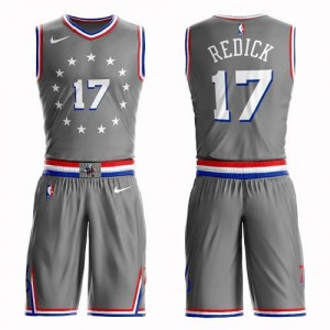Nike Maillot Basket Redick Philadelphia 76ers Suit City Edition Gris No.17 Enfant