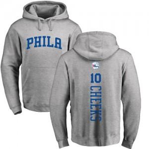 Nike NBA Hoodie Maurice Cheeks Philadelphia 76ers No.10 Pullover Ash Backer Homme & Enfant
