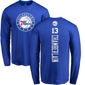 T-Shirt Wilt Chamberlain Philadelphia 76ers Bleu royal Backer Nike Homme & Enfant No.13 Long Sleeve