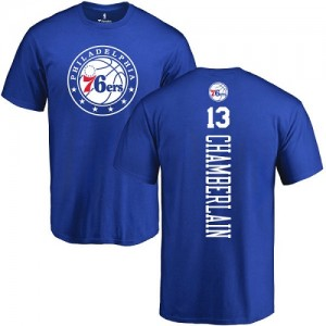 Nike NBA T-Shirts De Chamberlain 76ers Bleu royal Backer Homme & Enfant No.13