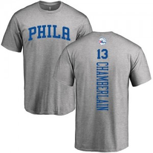 T-Shirts Basket Chamberlain Philadelphia 76ers Nike #13 Homme & Enfant Ash Backer