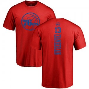 Nike NBA T-Shirt Basket Chamberlain Philadelphia 76ers Homme & Enfant Rouge One Color Backer #13