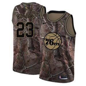 Maillots De Basket Jimmy Butler Philadelphia 76ers #23 Nike Realtree Collection Camouflage Homme
