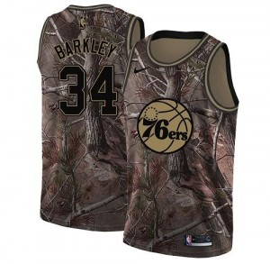 Nike NBA Maillots De Charles Barkley 76ers Camouflage Homme Realtree Collection No.34