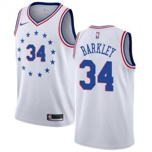 Maillots De Basket Barkley 76ers Nike Homme Blanc No.34 Earned Edition
