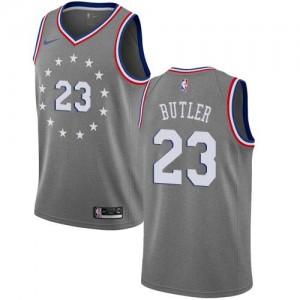 Nike NBA Maillots De Butler 76ers Homme Gris City Edition #23