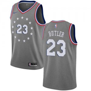 Nike NBA Maillot De Basket Jimmy Butler Philadelphia 76ers Gris Enfant City Edition No.23