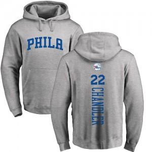 Hoodie Chandler 76ers #22 Ash Backer Nike Pullover Homme & Enfant