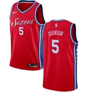 Maillot De Basket Amir Johnson 76ers #5 Nike Statement Edition Rouge Enfant