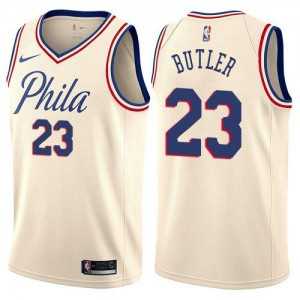 Nike NBA Maillot Basket Jimmy Butler 76ers City Edition Blanc laiteux No.23 Homme