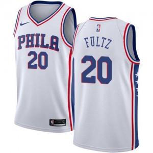 Nike Maillot De Basket Fultz 76ers #20 Blanc Association Edition Enfant