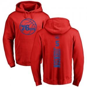 Nike NBA Hoodie Basket Amir Johnson Philadelphia 76ers Pullover Homme & Enfant Rouge One Color Backer #5