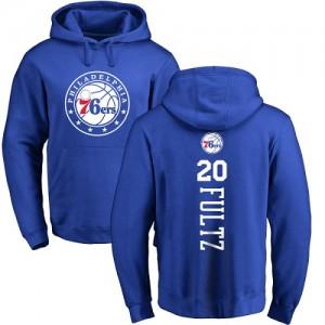 Sweat à capuche De Basket Fultz Philadelphia 76ers Pullover No.20 Homme & Enfant Bleu royal Backer Nike