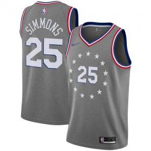 Nike Maillots De Ben Simmons 76ers Enfant City Edition No.25 Gris