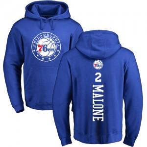 Nike NBA Sweat à capuche Basket Moses Malone 76ers Bleu royal Backer No.2 Homme & Enfant Pullover