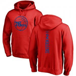 Sweat à capuche De Basket Malone Philadelphia 76ers Homme & Enfant Pullover Rouge One Color Backer Nike No.2