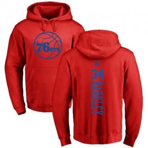 Hoodie De Basket Barkley Philadelphia 76ers Rouge One Color Backer No.34 Nike Pullover Homme & Enfant