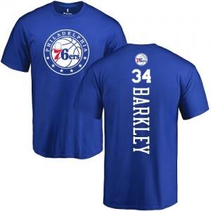 Nike NBA T-Shirts De Charles Barkley Philadelphia 76ers Homme & Enfant No.34 Bleu royal Backer