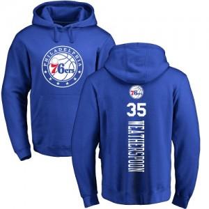 Nike Sweat à capuche Basket Weatherspoon 76ers Homme & Enfant Pullover No.35 Bleu royal Backer