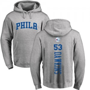 Nike NBA Sweat à capuche De Darryl Dawkins Philadelphia 76ers Pullover Homme & Enfant Ash Backer #53