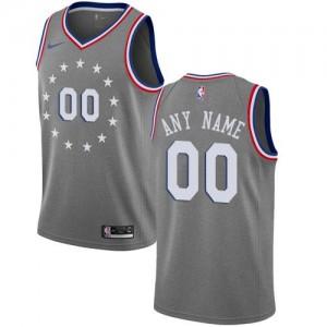 Nike NBA Personnalisé Maillot De Basket 76ers City Edition Gris Homme