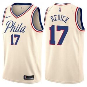 Nike NBA Maillot Basket JJ Redick 76ers City Edition Blanc laiteux Enfant #17