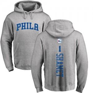Sweat à capuche Basket Shamet 76ers #1 Homme & Enfant Nike Pullover Ash Backer