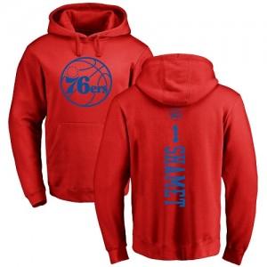 Nike NBA Sweat à capuche Basket Shamet 76ers Rouge One Color Backer Homme & Enfant No.1 Pullover