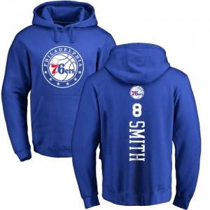 Sweat à capuche De Zhaire Smith Philadelphia 76ers No.8 Nike Homme & Enfant Bleu royal Backer Pullover