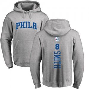Hoodie Basket Zhaire Smith Philadelphia 76ers Pullover Nike Homme & Enfant Ash Backer No.8
