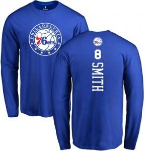 T-Shirt Smith 76ers Nike Homme & Enfant Bleu royal Backer No.8 Long Sleeve