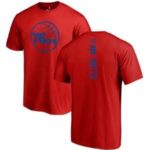 Nike T-Shirt De Zhaire Smith Philadelphia 76ers Rouge One Color Backer Homme & Enfant No.8