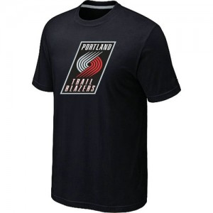 Tee-Shirt Portland Trail Blazers Big & Tall Primary Logo Homme Noir
