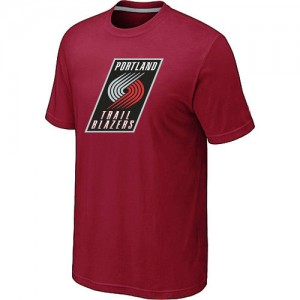 NBA Tee-Shirt De Basket Portland Trail Blazers Homme Big & Tall Primary Logo Rouge