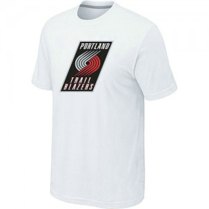Tee-Shirt De Portland Trail Blazers Homme Blanc Big & Tall Primary Logo