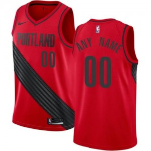 Nike Personnalise Maillot Basket Portland Trail Blazers Statement Edition Rouge Enfant