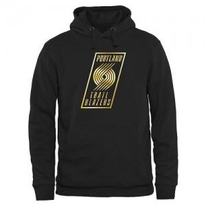 Hoodie De Basket Blazers Noir Homme Gold Collection Pullover
