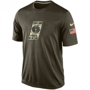 T-Shirt Basket Blazers Homme Olive Salute To Service KO Performance Dri-FIT Nike