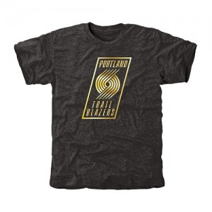 Tee-Shirt Portland Trail Blazers Noir Homme Gold Collection Tri-Blend